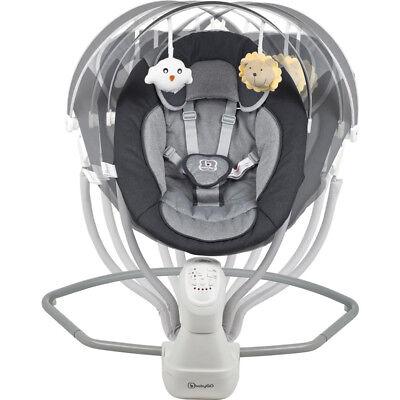 BabyGo elektrische Babywippe Babyschaukel Baby Wippe Schaukel mit Adapter CUDDLY