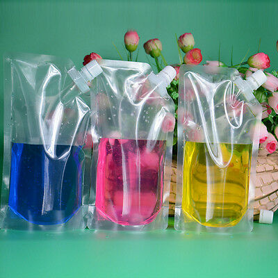 DIY Plastic Pocket Flask Fresh Bag Flowing Food Cruise Drinks Outdoor Camping