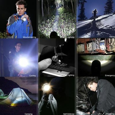 Tactical Police 990000Lumen T6 5Modes LED Flashlight Aluminum Torch Zoomable USA 11