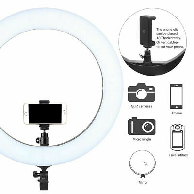 14 Inch LED Ring Light With Stand and Phone Holder Make-up for Camera iPhone UK 7