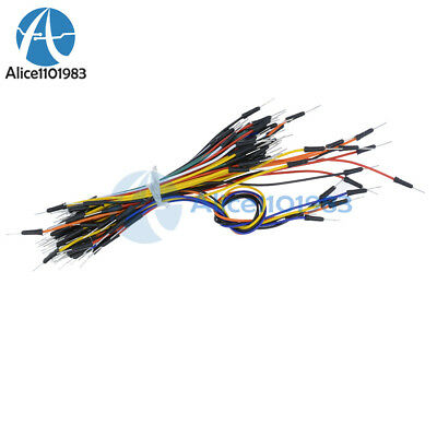 65Pcs Male to Male Solderless Flexible Breadboard Jumper Cable Wires For Arduino 3