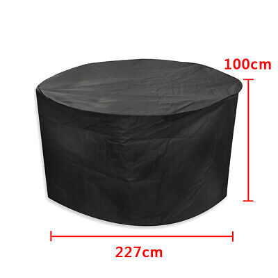 Large Round Waterproof Outdoor Garden Patio Table Chair Set Furniture Cover  UK 2
