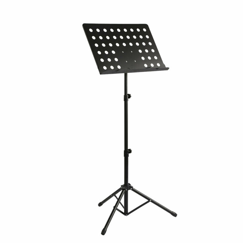 Foldable Music Stand/Holder/ Base Tripod Heavy Duty Orchestral Conductor Stand 9