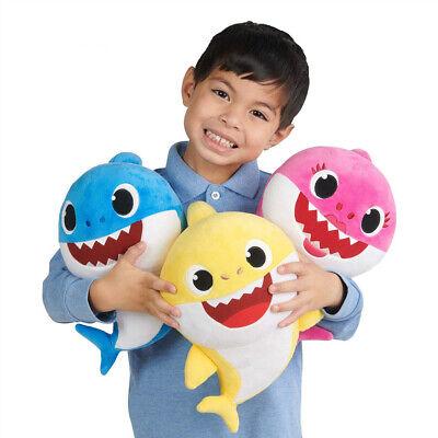 Baby Cartoon Plush Shark Toys Soft Singing Dolls Cute Gift for Kids Boys Girls 2