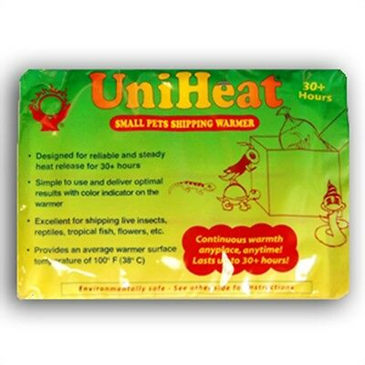 Uniheat heat pack fish transport shipping reptile warmer 30h 60h 30 60 hours hrs 3