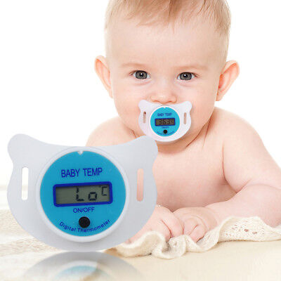 Baby MouthThermometer Pacifier Nipple Temperature LCD Digital Thermometer Safety 3