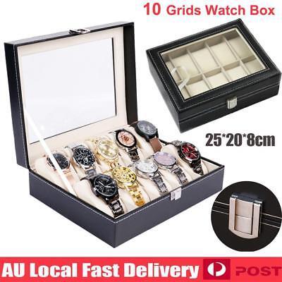10 Grids Watch Jewelry Storage Holder Box Watches Sunglasses Display Gift 2
