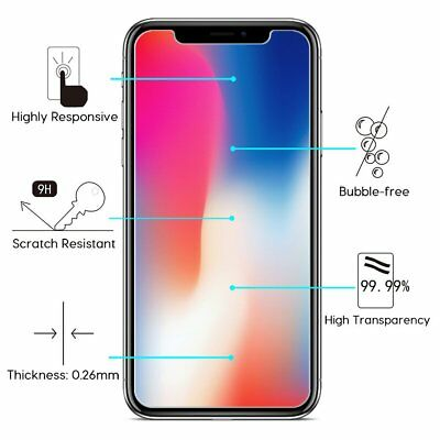 Apple iPhone X XS Max XR 8 7 6 6S Plus SE 5S 5 Tempered Glass Screen Protector 3