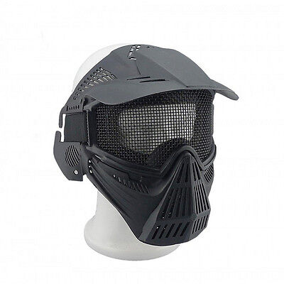 Airsoft Paintball Sports Full Face Protection Safety Mask Guard Pellet Goggles