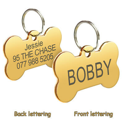 Stainless Steel Personalized Dog Tags Custom Engraved Cat Dog Name ID Phone Tag 6