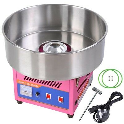 Electric Commercial Cotton Candy Machine Sugar Fairy Floss Maker Party Home DIY 2