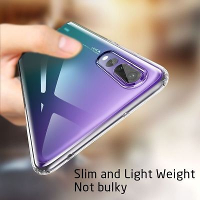 Shockproof Silicone Protective Clear Gel Cover Case For Huawei P20 Pro P Smart 4