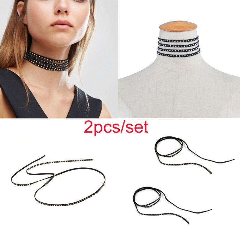 1X Women Lace Flower Chain Tassel Choker Collar Necklace Gothic Punk Jewelry Pip