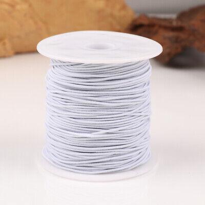 100M Rond Cordon Élastique Bande Couture Blanc pour Coudre Artisanat DIY 8