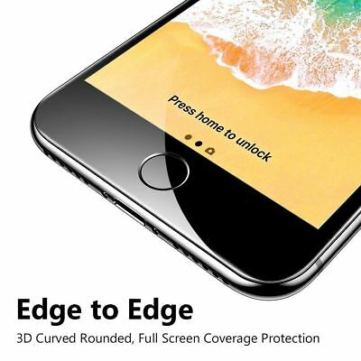 For iPhone X 7 8 Plus Xs Max XR Full Coverage Tempered Glass Screen Protector 6