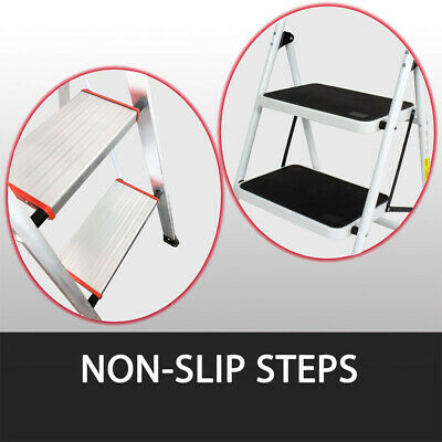 2 Or 3 Step Ladder Multi Purpose  Domestic Household Office Foldable Non Slip 8