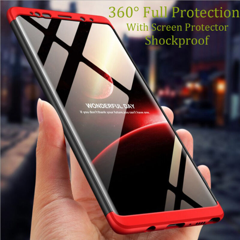 Samsung Galaxy Note 9 8 S9 S10 Plus Shockproof 360° Case Cover+Screen Protector 3