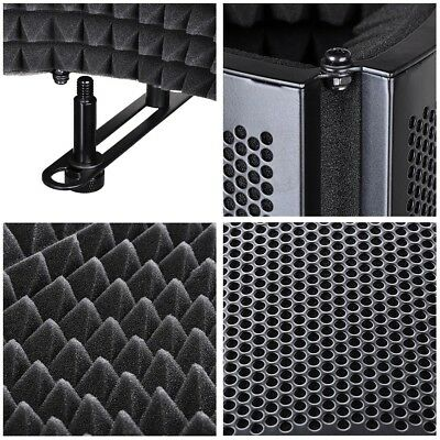 3 Fold Design Microphone Isolation Shield Studio Recording Absorber Foam Panel 5