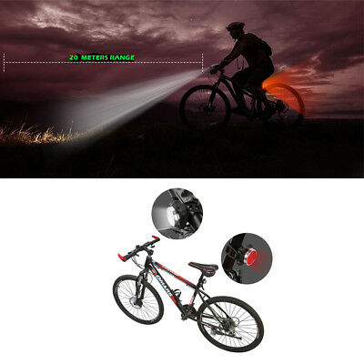 Waterproof Bicycle Bike Lights Front Rear Tail Light Lamp USB Rechargeable IPX4 2