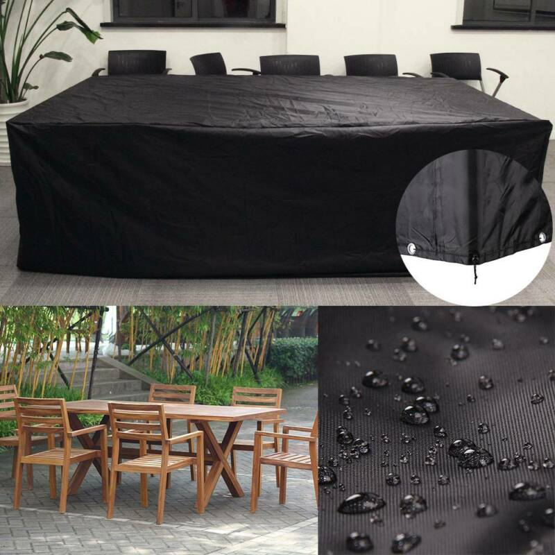 Large Waterproof Garden Patio Furniture Cover Covers Rattan Table Cube Outdoor 3