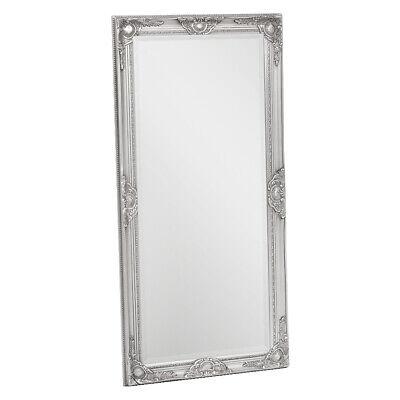 Wandspiegel LEANDOS 120x60cm barock weiß pur Design Spiegel pompös Holzrahmen
