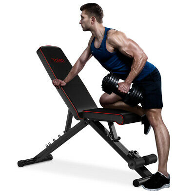 EasyBuild Adjustable Folding Olympic Weight Bench - Upright to Decline Black 2