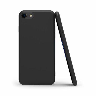 Cover Custodia + Pellicola Vetro Temperato Per Iphone 6/6S 7/8 X/Xs  Nero Opaco 4