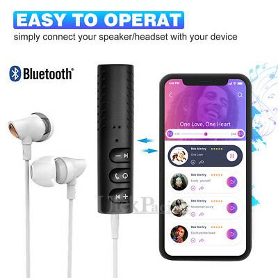 3.5mm Jack Wireless Bluetooth Receiver Audio Adapter Car AUX suit Bose Headphone 3