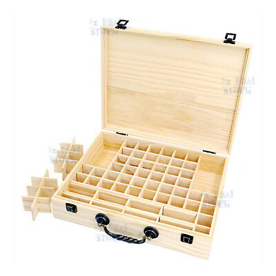 70 Slot Aromatherapy Essential Oil Storage Box Wooden Case Container Holder OZ 2
