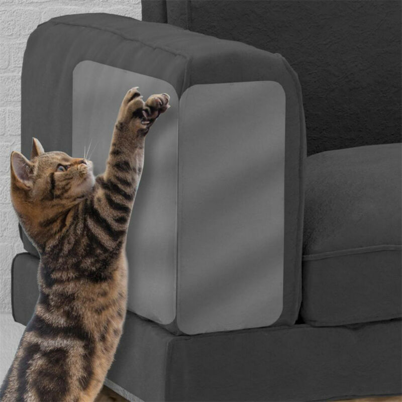2Pcs Cat Scratch Guard Mat Pet Cat Scratching Post Furniture Sofa Seat Protector 2