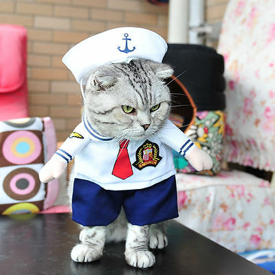 Pet Small Dog Cat Pirate Costume Outfit Jumpsuit Clothes For Halloween Christmas 11
