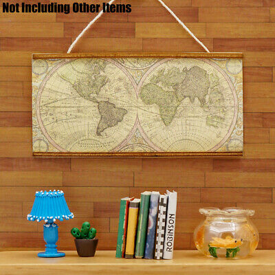 1:12 Dollhouse Miniature Furniture Map of the Americas Wall Hanging Room Decor
