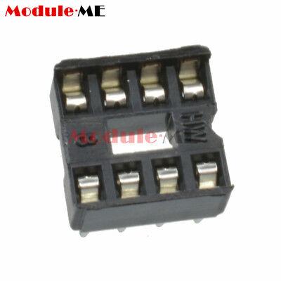 50/100PCS 8pin DIP IC Socket Adaptor Solder Type Socket Pitch Dual Wipe UK 6