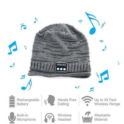Bluetooth Music Warm Beanie Hat Wireless Smart Cap Headset Headphone Speaker Mic