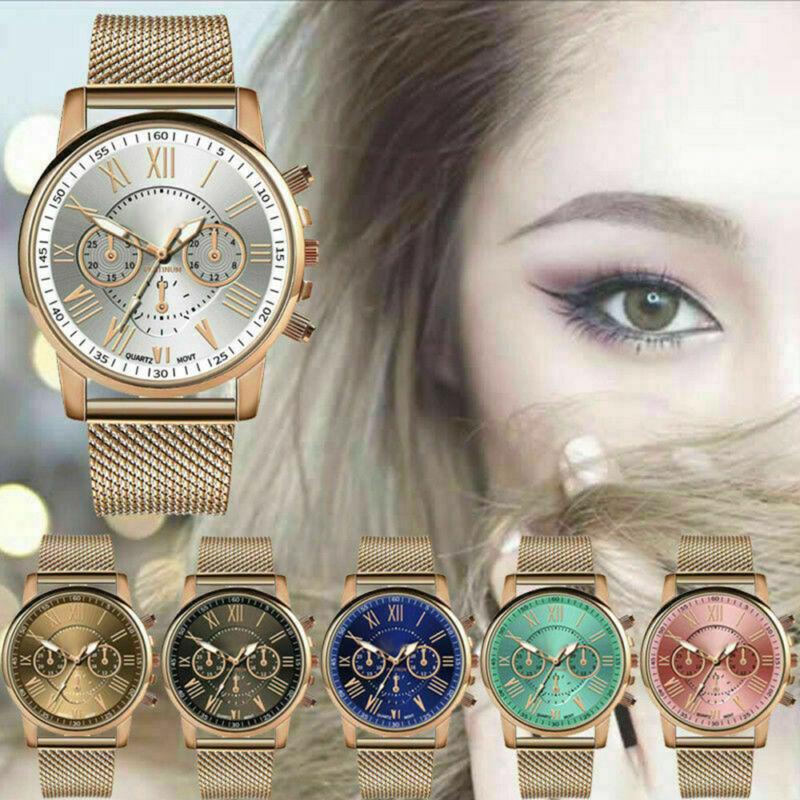 New Women Watch Stainless Steel Analog Quartz Dress Bracelet Wrist Watch JP 2
