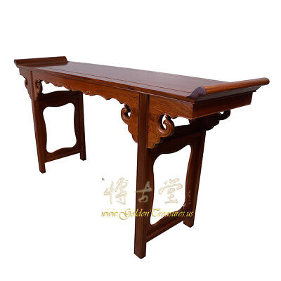 Chinese Vintage Carved Rosewood Altar Table 16LP88 2
