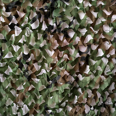 Woodland Camouflage Netting Military Camo Net Hunting w/ String Backing 13x10ft 2