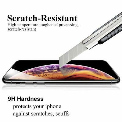 For iPhone X XR XS Max - FULL COVER 9D Tempered Glass Screen Protector [2-Pack] 4