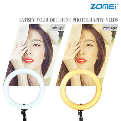 """18"""" LED SMD Ring Light Kit with Stand Dimmable 5500K for Makeup Phone Camera 7"""