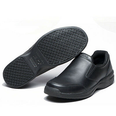 6 Of 11 WAKO Mens Leather Chef Shoes Kitchen Nonslip Shoes Safety Shoes Oil  Water Proof