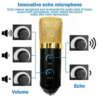 USB Condenser Microphone Sound Recording Audio Studio Brocasting w/ Tripod Stand 3