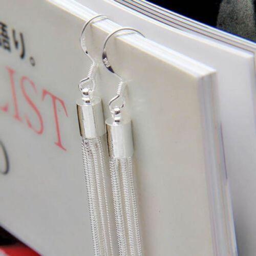 8fd417490 Women's Fashion Jewelry Silver Plated Long Hook Tassels Drop Dangle Earrings  HOT 5 5 of 6 See More