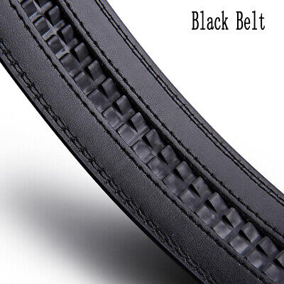 Luxury Men's Automatic Buckle Belts Ratchet Genuine Leather Belt Strap Waistband 9