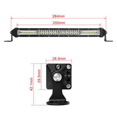 "Ultra-thin 312W 10inch Led Light Bar Flood Spot Combo Offroad SUV 12""22""32""42""52 2"