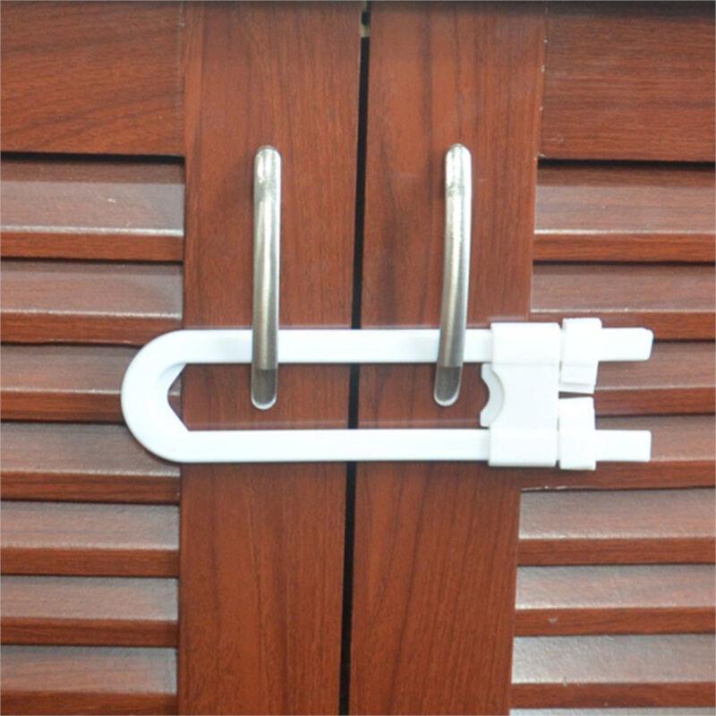 1pcs Child Infant Baby Kid Safety Drawer Door Cabinet U Shape Lock Baby Safety\ 4