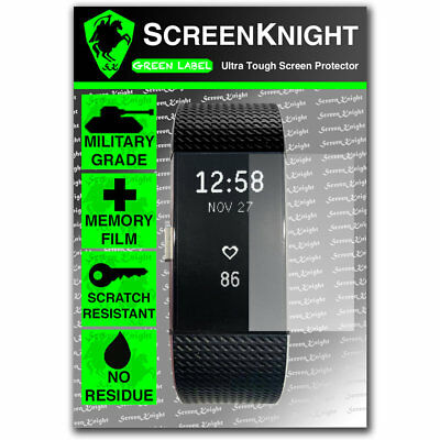 ScreenKnight FITBIT CHARGE 2 / ii - SCREEN PROTECTOR Military Shield - PACK OF 6 2