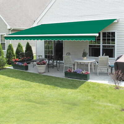 Retractable Awning Manual Outdoor Garden Canopy Patio Sun Shade Shelter 8 Colour 5