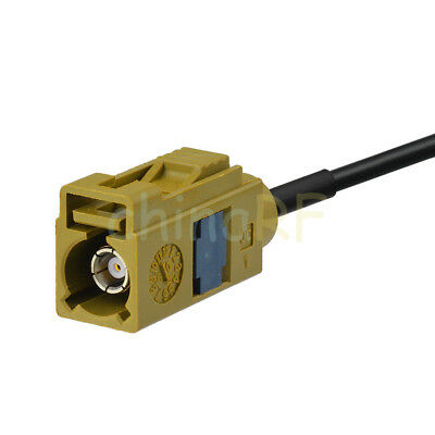 Fakra K Female to SMB Jack RG174 Antenna Extension Cable 5m for Sirius XM Radio 2