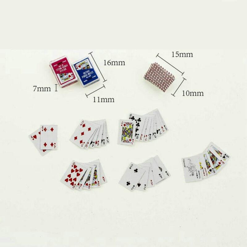 Miniature Poker 1:12 Mini Dollhouse Playing Cards Cute Doll House Mini Poker TR 4