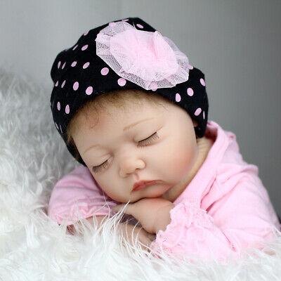 Reborn Baby Toy Newborn Lifelike Silicone Vinyl Sleeping Girl Dolls 22 Inch 8